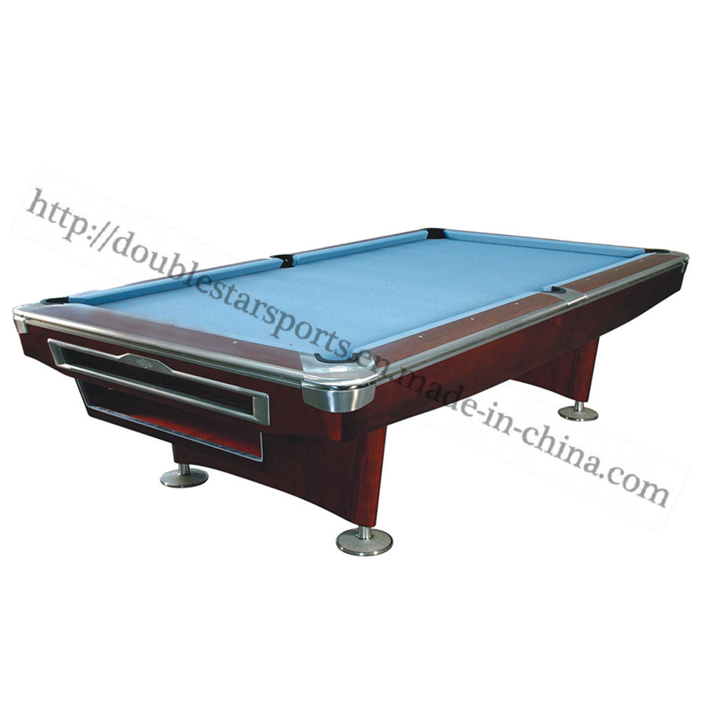 China Solid Wood Slate Pool Table With Auto Ball Return System Billiard