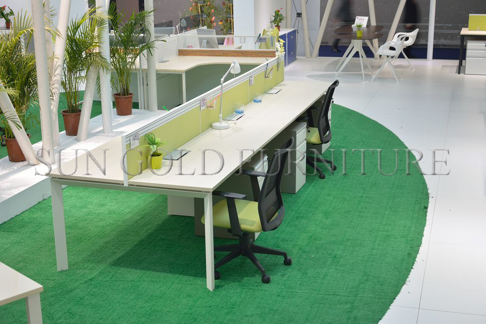 Straight Office Workstation Big Desk With Partition Sz Ws69