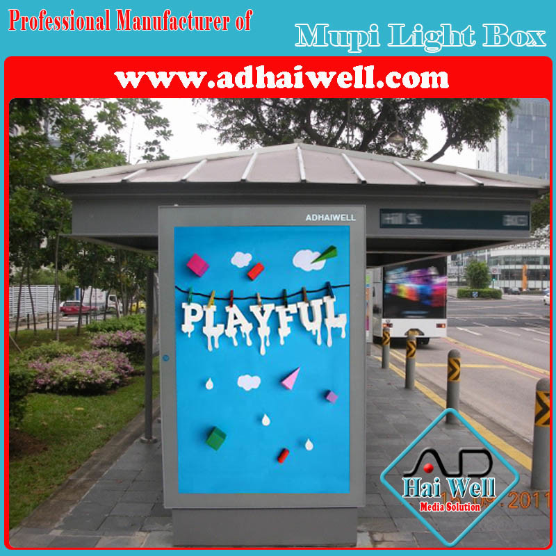 Public Service Steel Powder Coated Advertising Light Box
