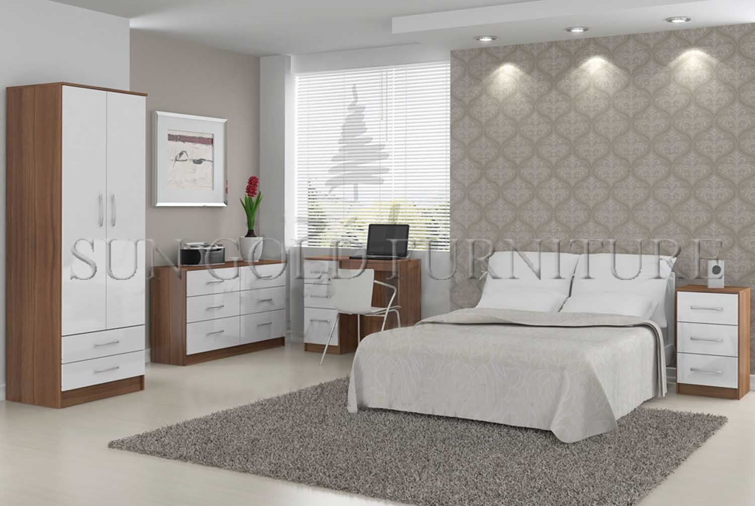 Cheap modern wooden apartment bedroom furniture sz bf053