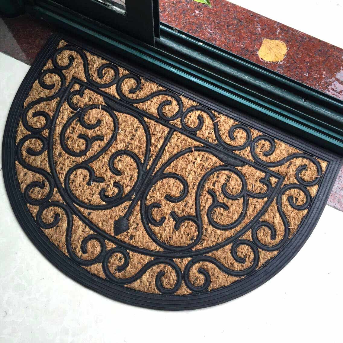 Rubberized Entrance Welcome Coco Coconut Rubber Backed Coir Mats