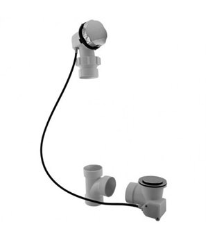 1 1/2u2032u2032 Cable Operated Bath Waste U0026 Overflow Bathtub Drain