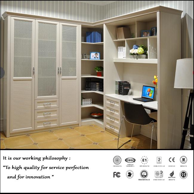 China PVC White Melamine Bookshelf FY1008