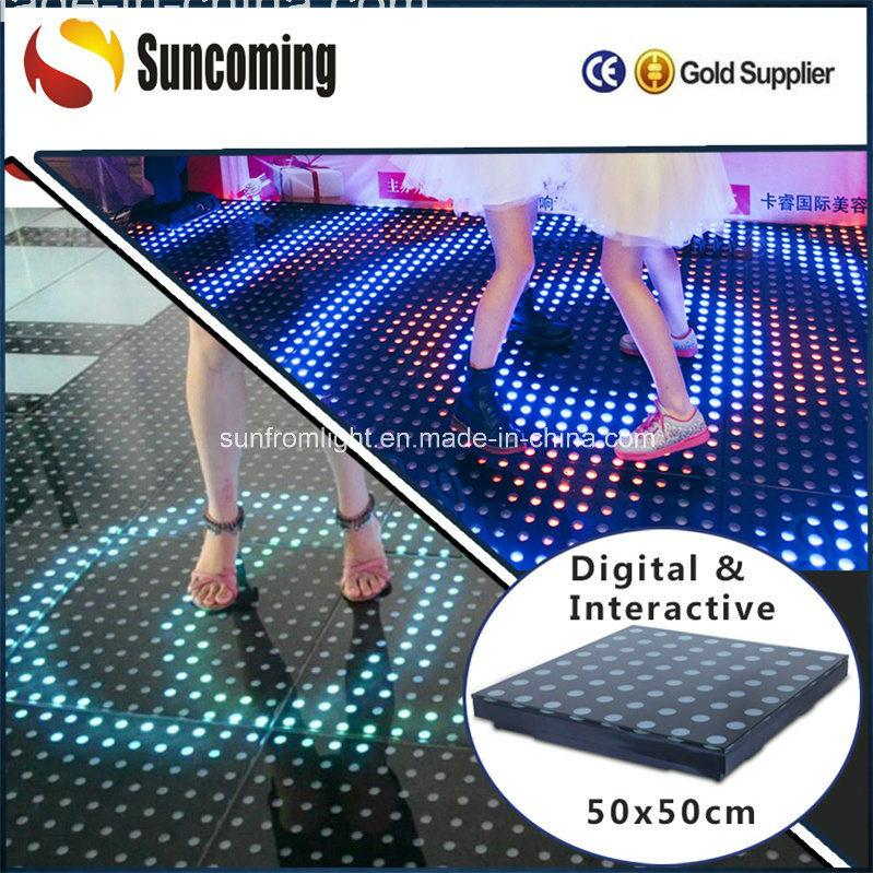 china hotslim rechangeable interactive lighting led stage floor