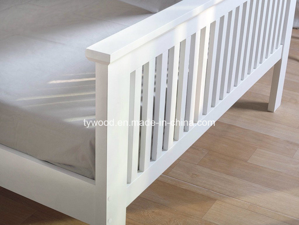 New Shaker Style White Wooden Bed Frame Quality Double 4FT6 Wood Classic Modern Bed pictures & photos