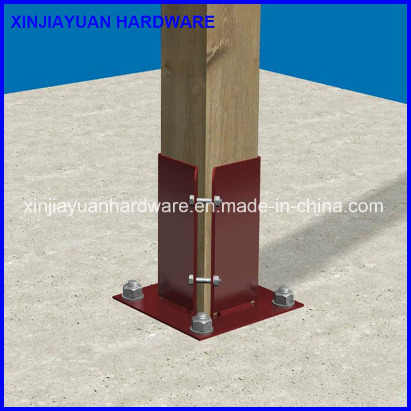 China High Quality Metal Ground Pole Base Plate with Bolt