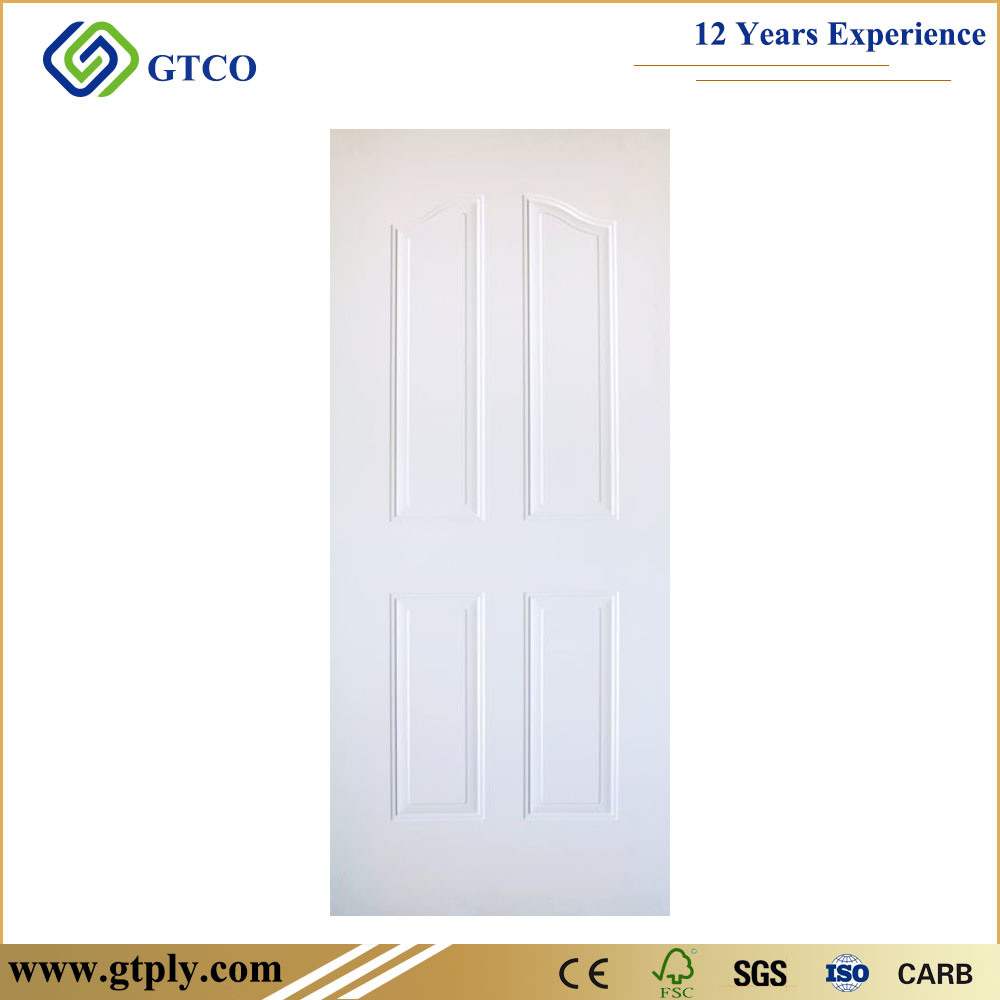 2.7mm 3mm White Primer Moulded MDF Door Skin for Sale White Color All Kinds of Door Skin pictures & photos