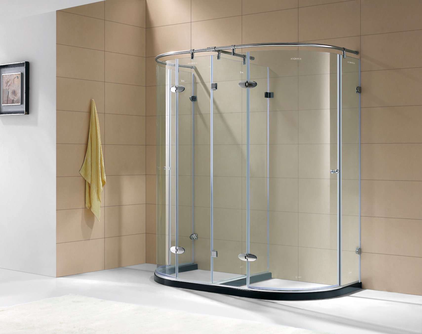 China Stainless Steel SemiFrame Shower Room Shower Enclosure With - Bathroom compartment