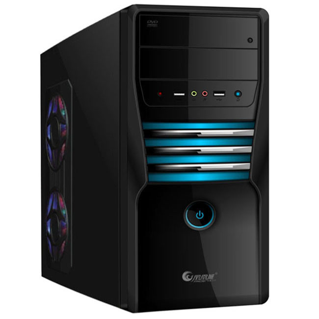 China Wall Mount PC Case SPCC 0.5mm Black Computer Cabinet