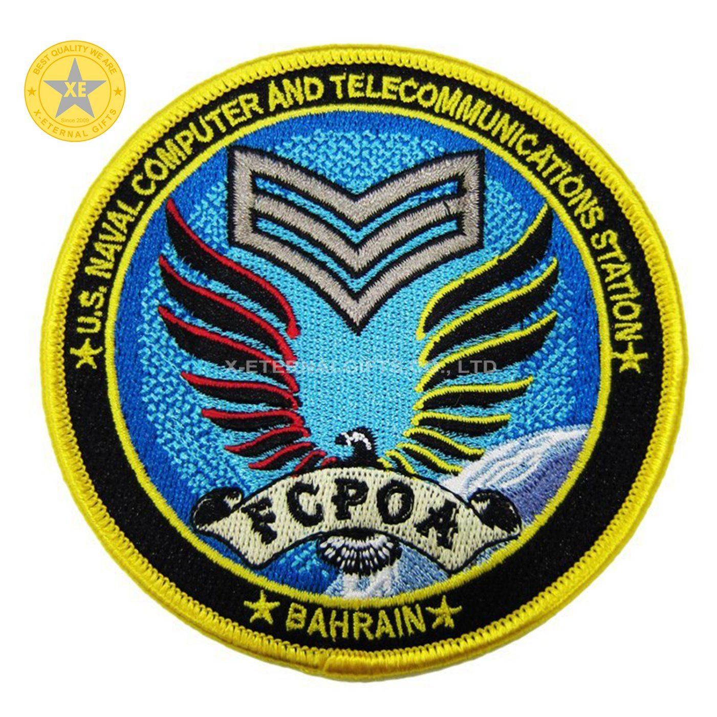 Round Shape Plane Stitch on Patch Embroidery Muliti Color Military Patch - Ready for Use pictures & photos