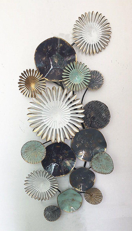 CORAL//SALTWATER PLANT  METAL WALL ART DECOR
