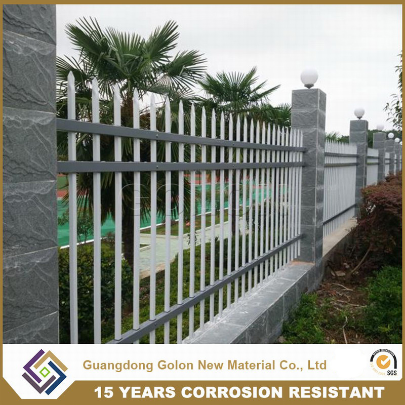 Powder Coated Galvanized Iron Spearhead Ornamental Decorative Palisade Fencing pictures & photos
