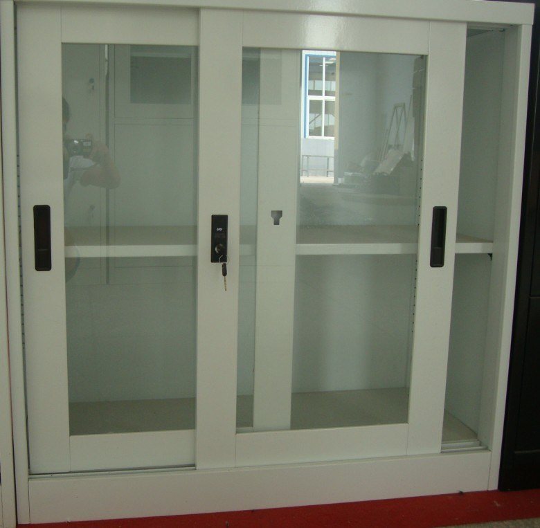 China Used Steel Storage Filing Cabinet With Sliding Glass