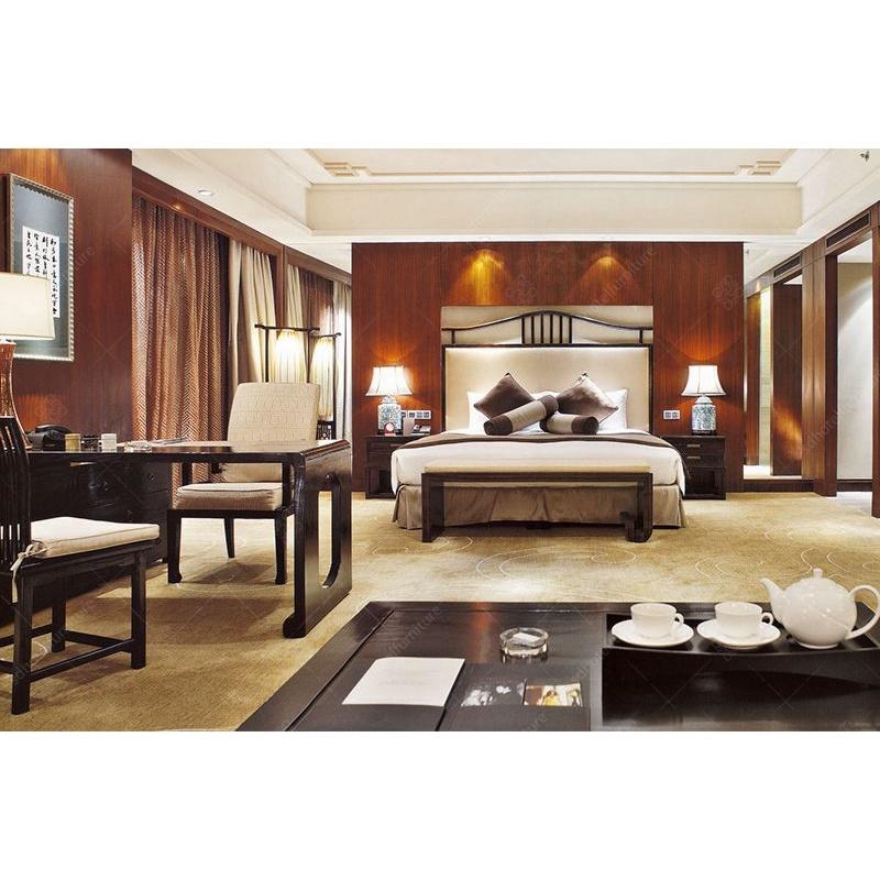 China High End Carved Vintage Furniture Hotel Bedroom Sets Master