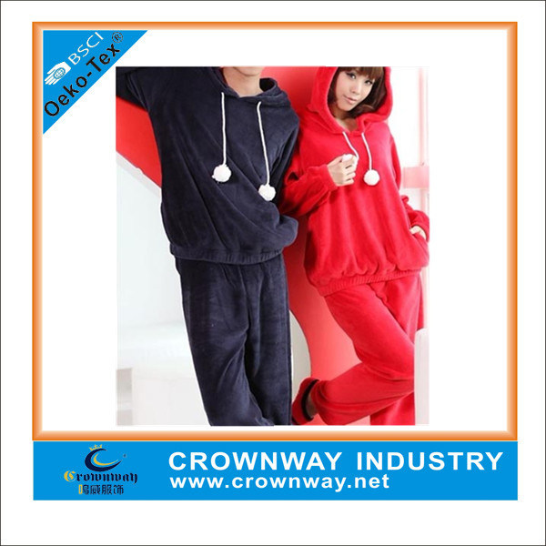 Fashion Couple Cute Blank Velvet Homewear for Wholesale