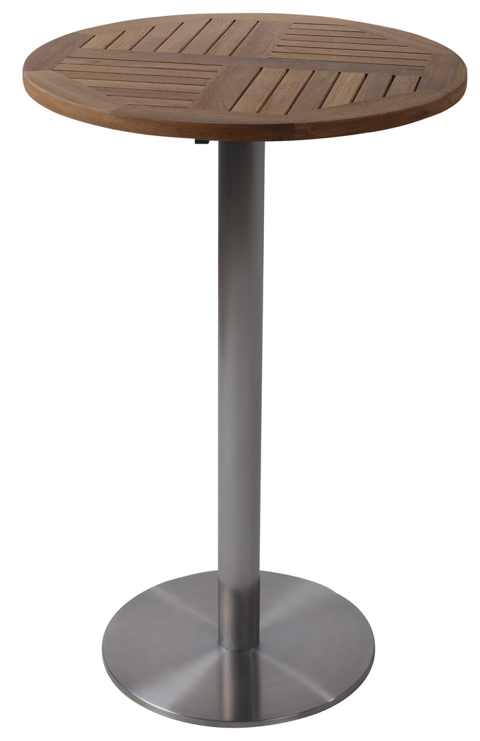 China Stainless Steel Outdoor High, High Round Tables