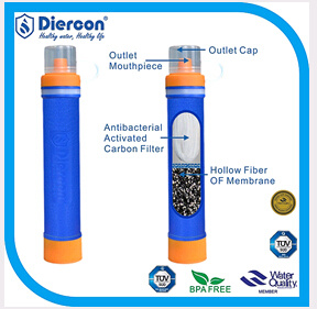 China Diercon Portable Water Filter Straw Outdoor Camping Cycling Hiking Water  Filter System - China Water Filter Straw 5c2bee7ca0b0
