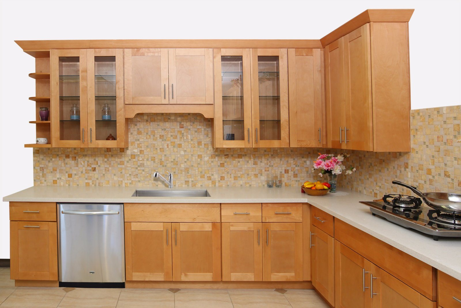 Phenomenal Hot Item Red Oak Solid Wood Shaker Kitchen Cupboard Furniture From China Factory Download Free Architecture Designs Jebrpmadebymaigaardcom