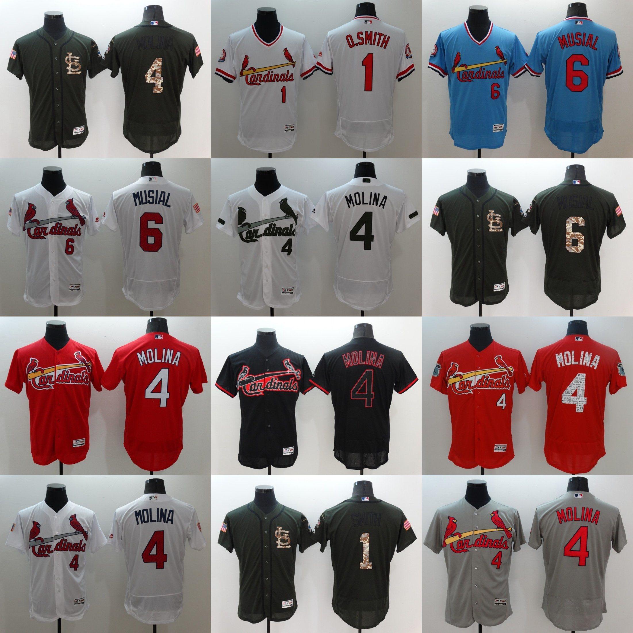 free shipping 2142b c36e8 [Hot Item] Customized St. Louis Cardinals Molina Baseball Jerseys