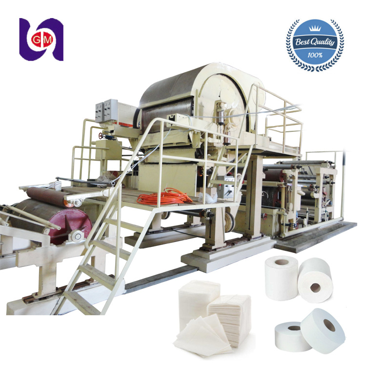 [Hot Item] High Speed 1760mm 10 Tons Per Day Tissue Paper Manufacturing  Machine / Tissue Paper Machine Price / Cost of Tissue Paper Machine