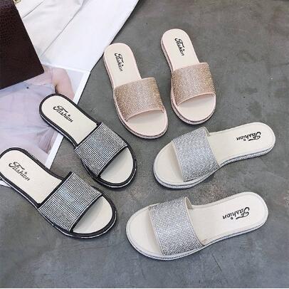 2f810d64c4c930 Indoor Slipper Outdoor Beach Slipper Summer Sandal Women Leather Flip-Flop