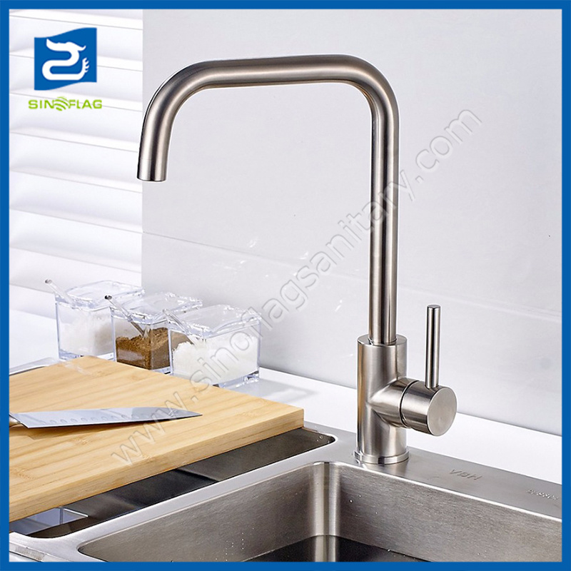 China Brushed Nickel Kitchen Sink Faucet House Water Mixer Photos Pictures Made In China Com