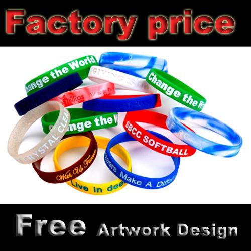 China Custom Fundraising Bracelets With Emboss Logo
