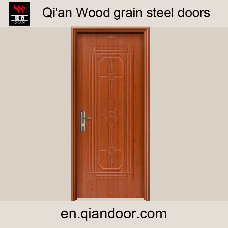 Black Walnut Heat Transfer Print Steel Door pictures & photos