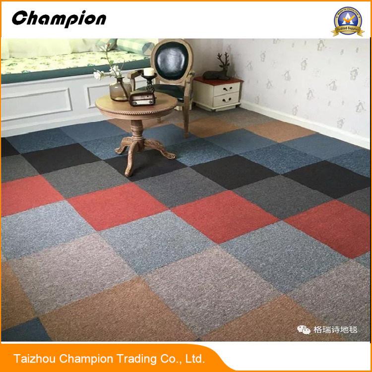 [Hot Item] Na Commercial Living Room Floor Mat Fireproof Square Carpet  Tile; Loope Pile Carpet Tiles for Commercial Room or Office