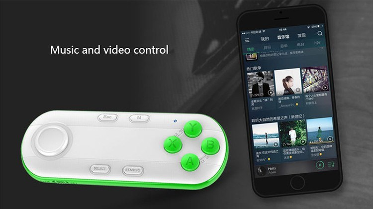 Wireless Bluetooth Gamepad Vr Remote Mini Bluetooth Game Controller Joystick for iPhone Ios Xiaomi Android PC Vr Box