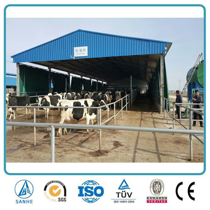 Agricultural Prefabricated Metal Frame Steel Structure Design Cattle Farm Building