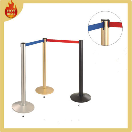 Stand Portable Metal Crowd Control Pole for Airport