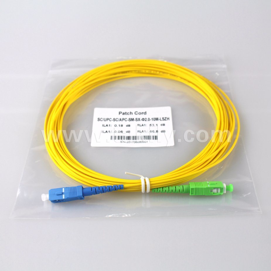 China En50575 Approved Sc Single Mode G652d Duplex Fo Jumper Patch Cable Cord Or Is An Eight Wire That