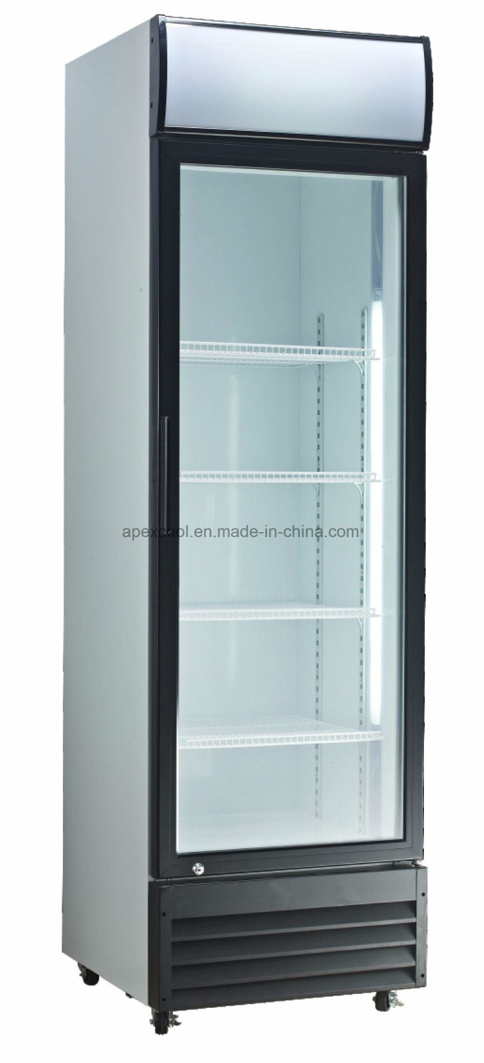 China Commercial Used Beverage Cooler Glass Door For 380l Refrigeration Upright