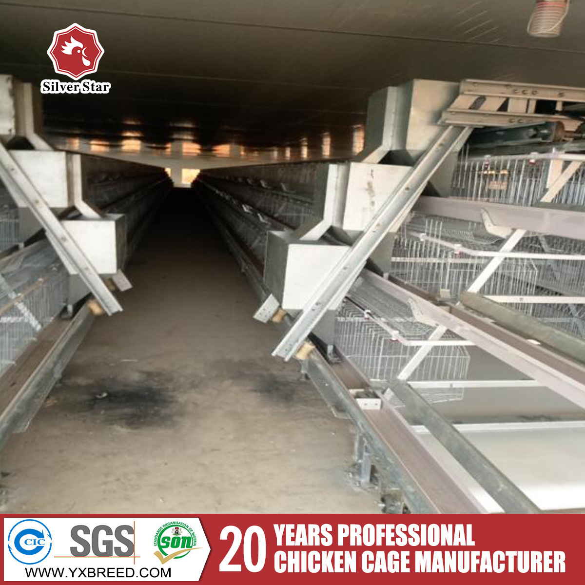 Poultry Chicken Cages a Type for Layers for Poultry Farms