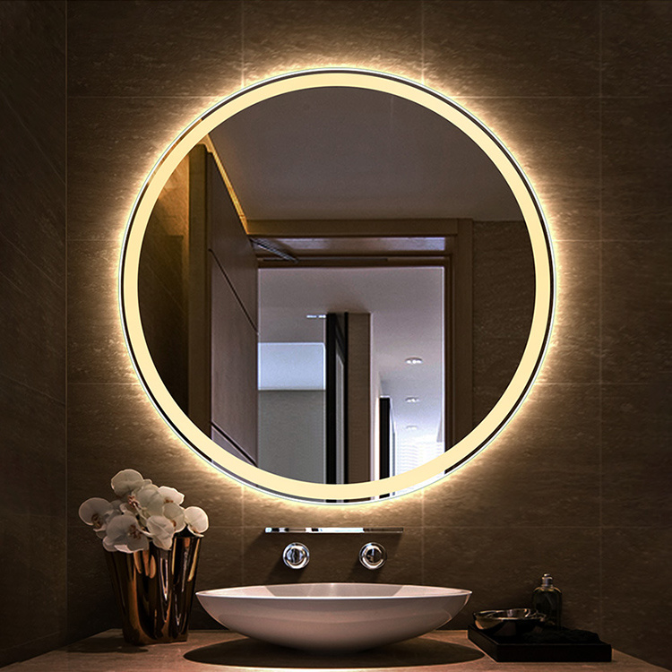 China Round Touch Sensor Led Bathroom, Framed Wall Mirrors For Bathrooms