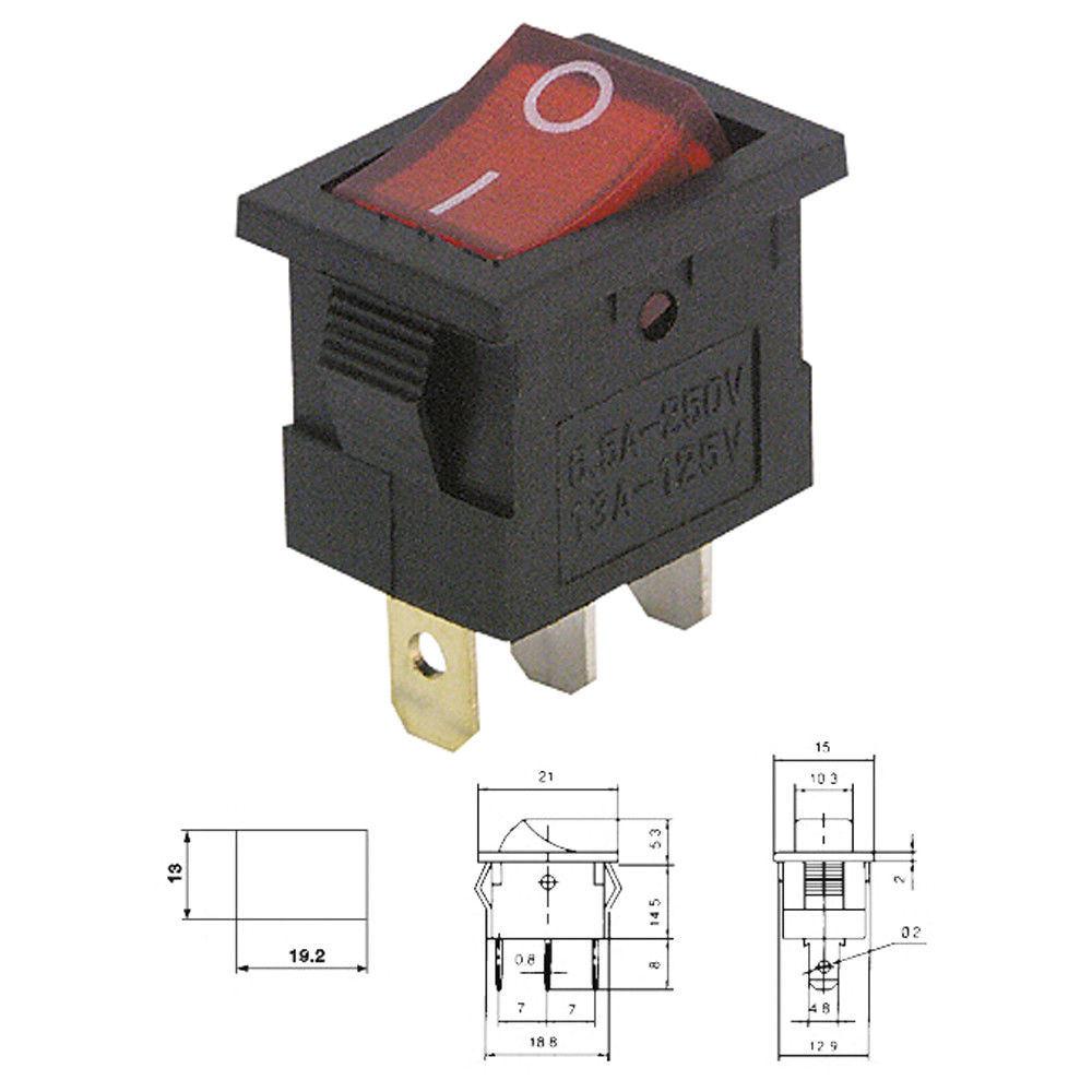 China Kcd1 106 N Spst Red Illuminated Rocker Switch 6a 250v Photos 125vac Wiring Diagram