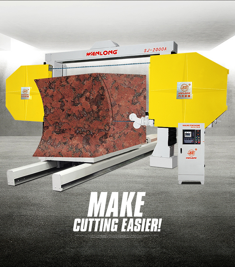 Marble Slab With Wire Saw Cutter