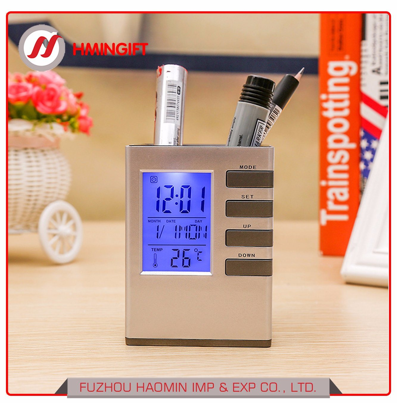 Wholesale Lcd Clock Buy Reliable From Digital Multifunction Temperature Humidity Meter With Alarm Date Week Calender Htc 2 Hygrometer Room Thermometer Large Screen Voice Control Backlight