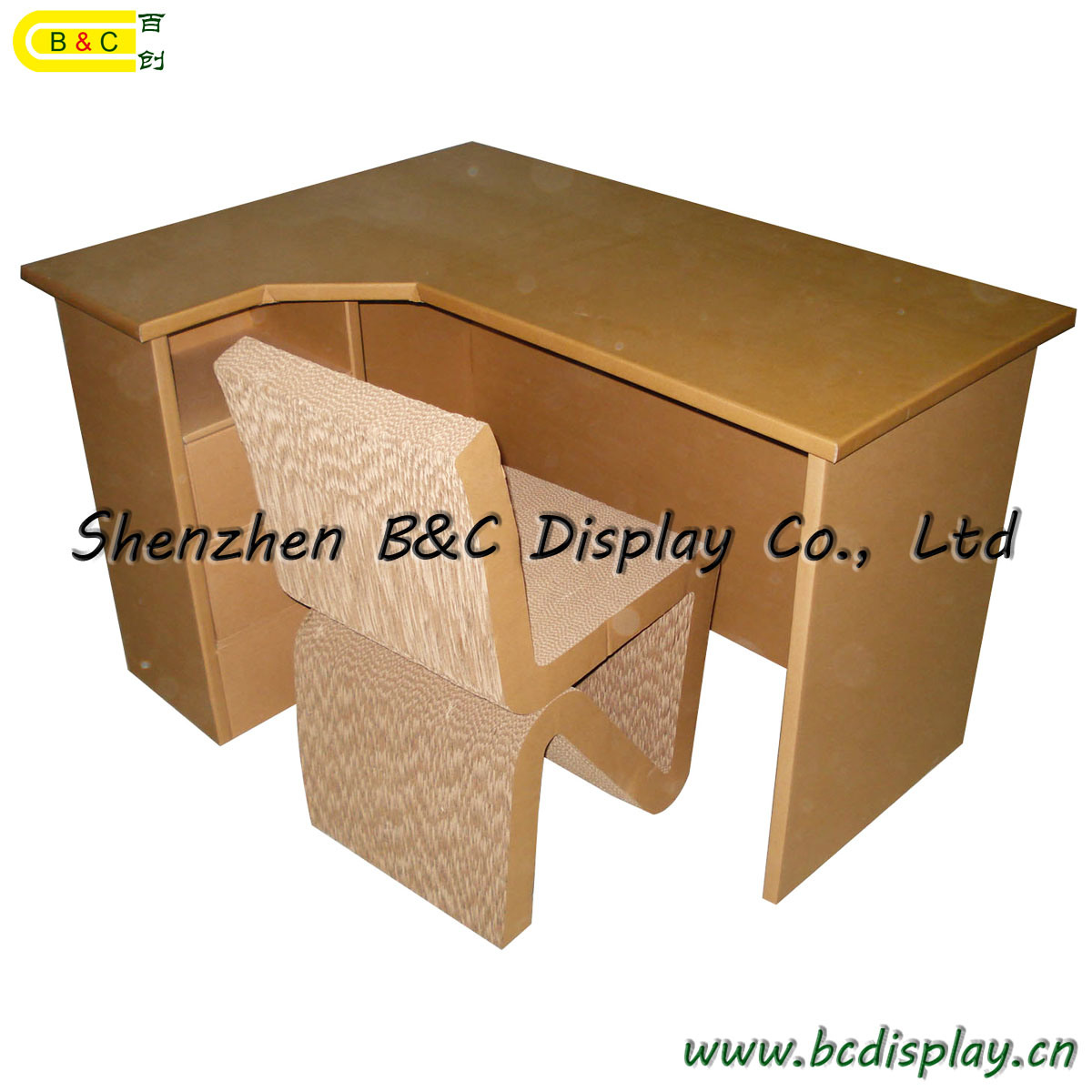China Environmental Protection Cardboard Office Table Computer Desk