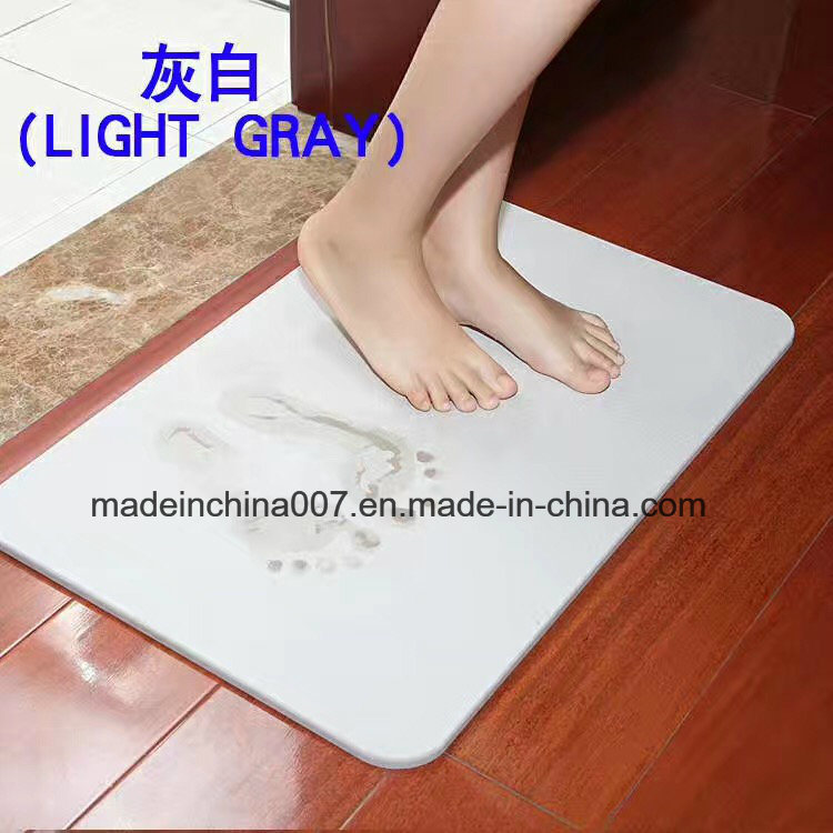 China Water Absorbant Hard Bathmat Diatomaceous Earth Tile Shower ...