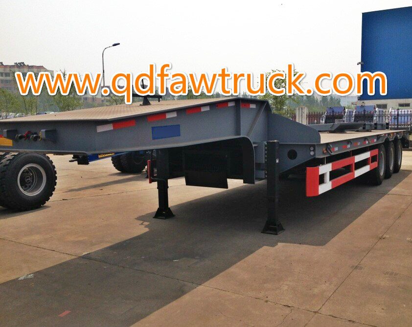 With Drop Axle Semi : China axle tons low bed semi trailer drop deck