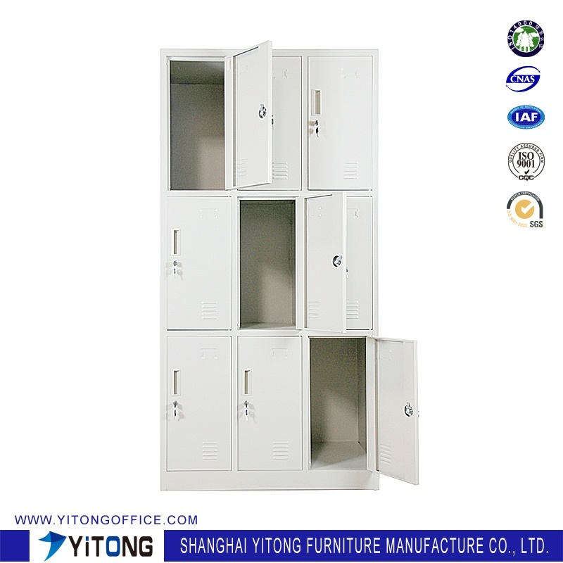 Yitong 9-Door Metal Storage Cabinet / Office Use Steel Locker