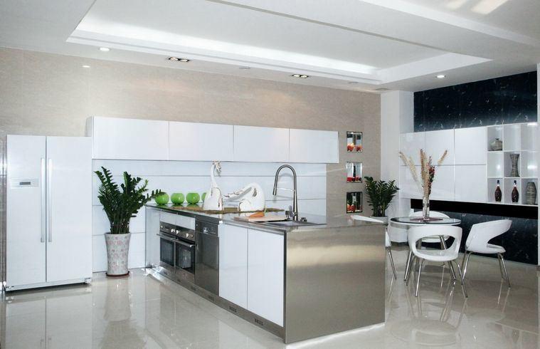 China Aluminium Kitchen Cabinet Design And White Acrylic Glass Front Storage Cabinet Modern Kitchen Cabinets China High Gloss Kitchen Cabinets Glass Front Kitchen Cabinet