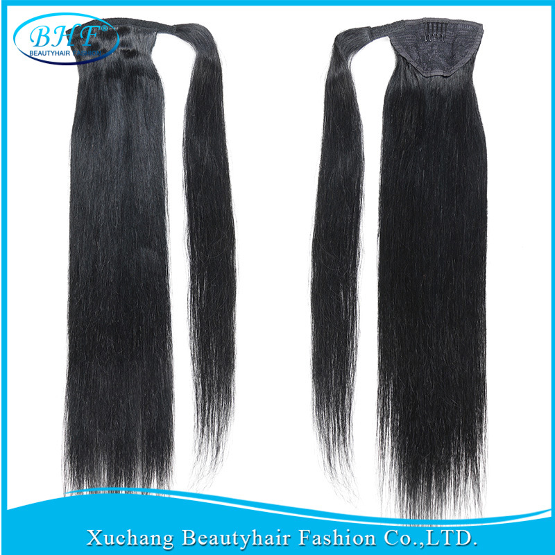 China Virgin Natural Human Hair Ponytail Extension 18 22 Real Hair