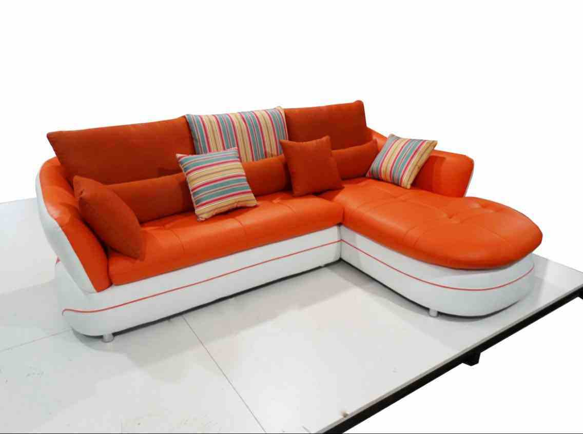 [Hot Item] Red Color Cute Leather Sofa, Modern Sofa, Home Furniture (M303)
