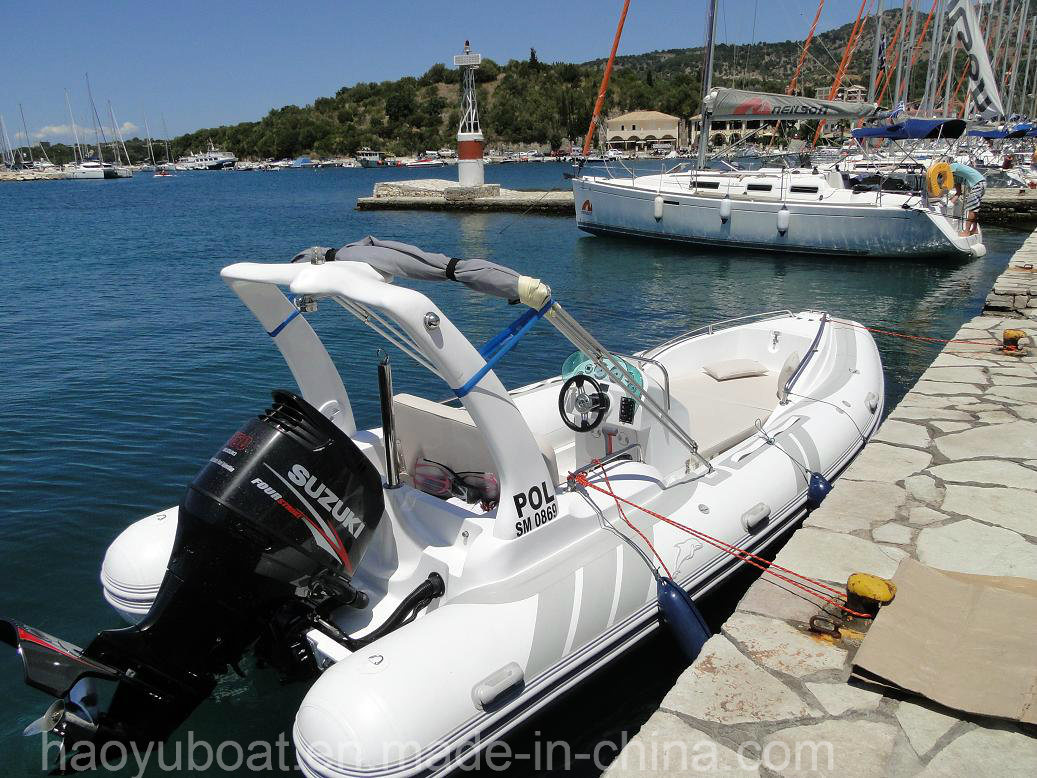 5.8m Inflatable Rib Boat, Fishing Boat Rescue Boat, Sport Motor Boat for Sale