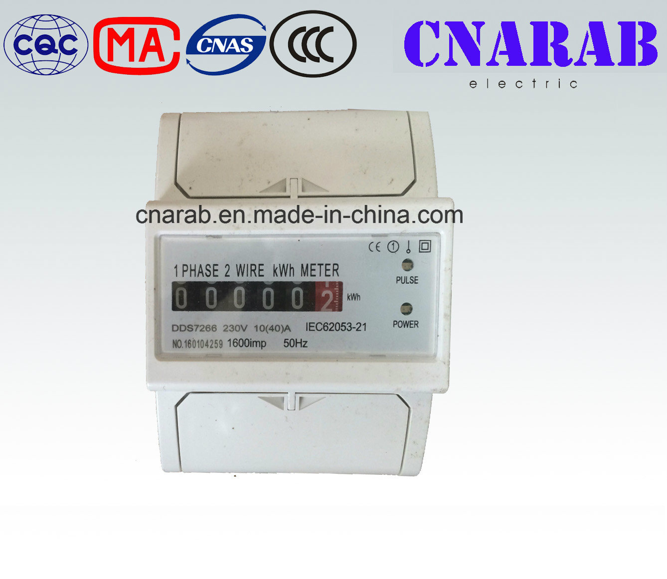 China Single-Phase Two-Wire Electronic DIN-Rail Active Energy Meter ...