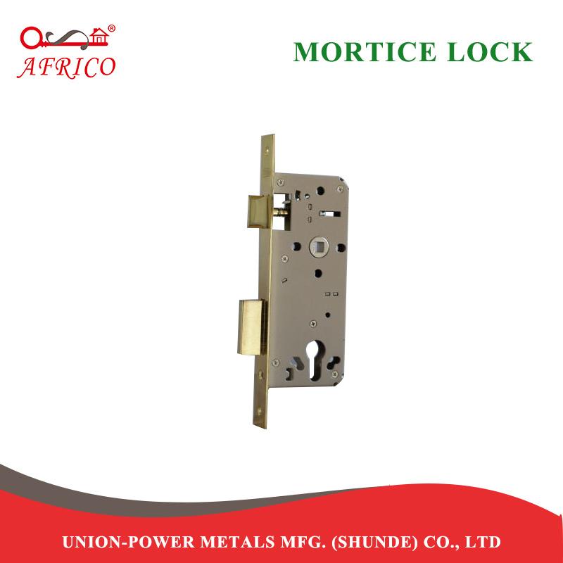 [Hot Item] 1 Gold 85mm Mortise Lockcase Mortice Lock for Cylinder Door  Lockset (LB945PB)