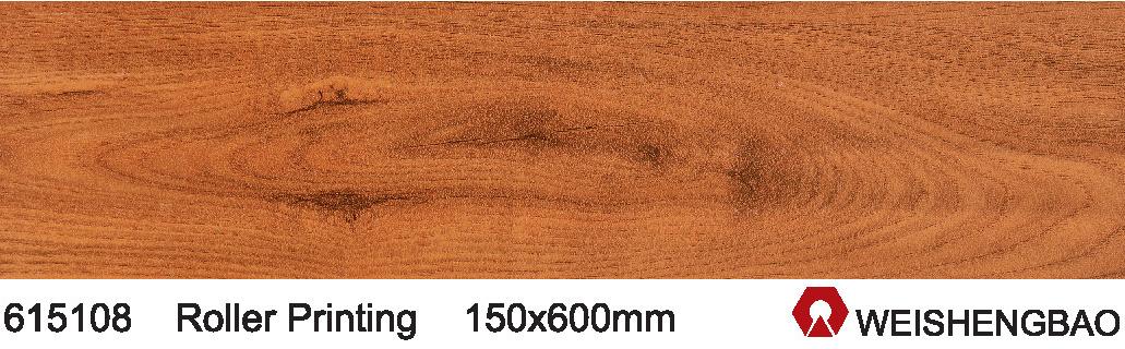 China 150600mm Stock Teak Wood Pattern Color Ceramic Floor Tile